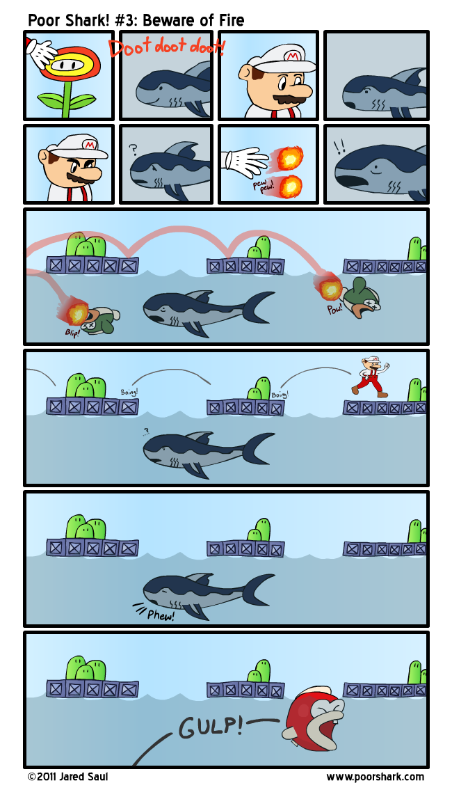 And that's the reason Shark never could get past World 3-8.