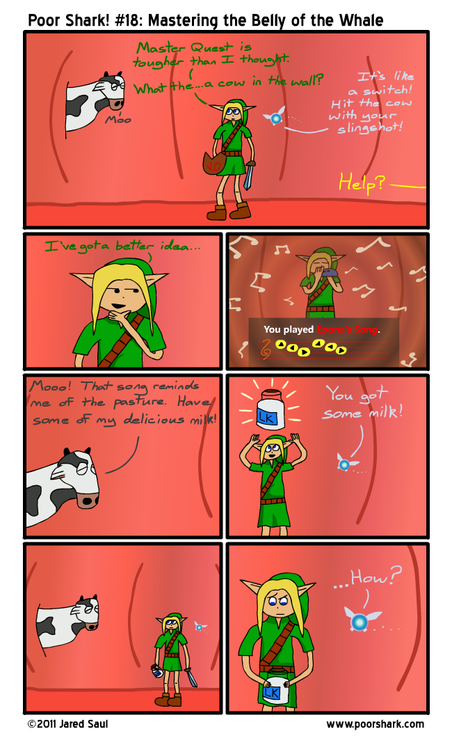 Between panels 4 and 5, Malon ran an express delivery all the way from Lon Lon Ranch.  OBVIOUSLY.